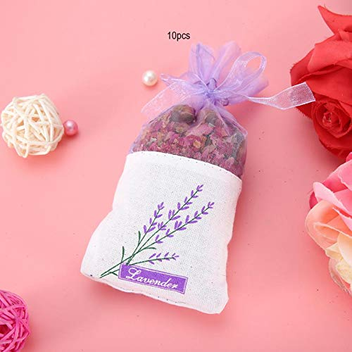 Hanging Flower Pouch 10Pcs Dried Flowers Hanging Aroma Bag Sachet Air Deodorant Wardrobe Aroma Bag Wardrobe Fragrance Sachets by Mehtah Store (Image #5)