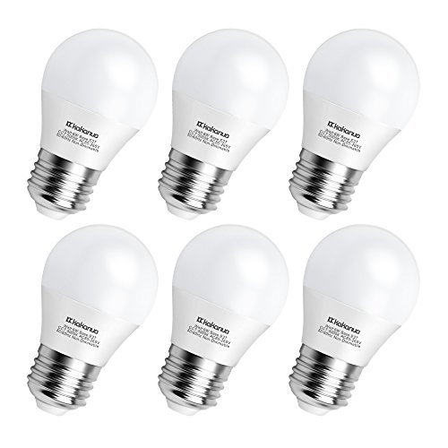 A15 LED Bulb 60 Watts, Kakanuo 6 Watt Equivalent E26 Medium Screw Base, A15/G45 Daylight White 5000K, 600 Lumens for Home Lighting Decorative and Refrigerator, Non-Dimmable (Pack of 6)