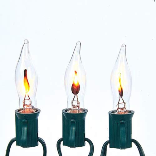 Kurt Adler 10-Light Flicker Flame Light Set (Flame Christmas Lights)