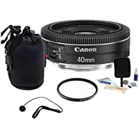 Canon EF 40mm f/2.8 STM Lens Bundle. USA. Value Kit with Accessories #6310B002