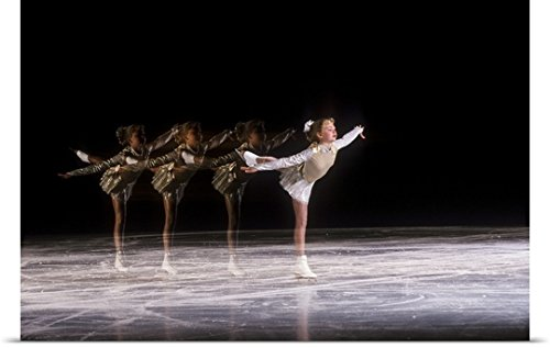 Duomo Archive Poster Print entitled Sequence of female figure skater in action