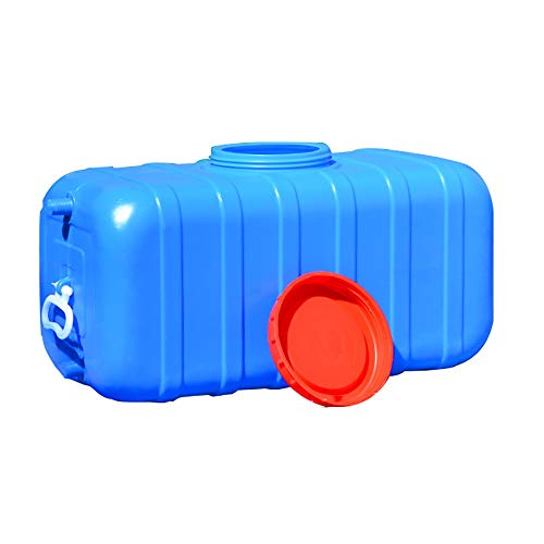 Horizontal Water Tank, Rectangular Car Water Tank, Thick Plastic Water Storage Container, Household Outdoor Bucket, Acid and Alkali Resistant, Blue (Size : 70l)