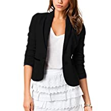 Women Casual Plus Size Two Button Business Suits Tops Outwear Jackets Blazer