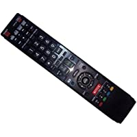 Replaced Remote Control Compatible for Sharp LC-60LE657U GA936WJSA LC-60C6400U LC46LE830U LC52LE810 LC-52LE920U LC-42LE540U AQUOS LED LCD HD TV with NETFLIX 3D Button
