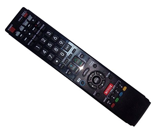 Price comparison product image Replaced Remote Control Compatible for Sharp LC-60LE657U GA936WJSA LC-60C6400U LC46LE830U LC52LE810 LC-52LE920U LC-42LE540U AQUOS LED LCD HD TV with NETFLIX 3D Button