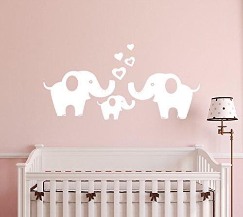 ANBER Elephant Family Wall Decal Removable Vinyl Wall Art El