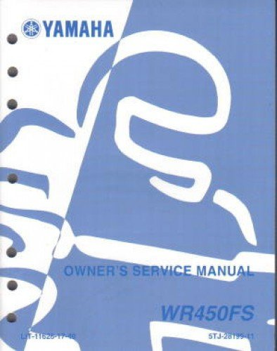 Download LIT-11626-17-49 2004 Yamaha WR450FS Motorcycle Owners Service Manual ebook