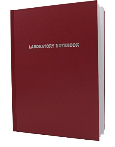 Heathrow Scientific HD8610D Laboratory Notebook, Red Lined Cover, 200 Pages, 8-1/2'' Length x 11'' Height (Pack of 12) by Heathrow Scientific