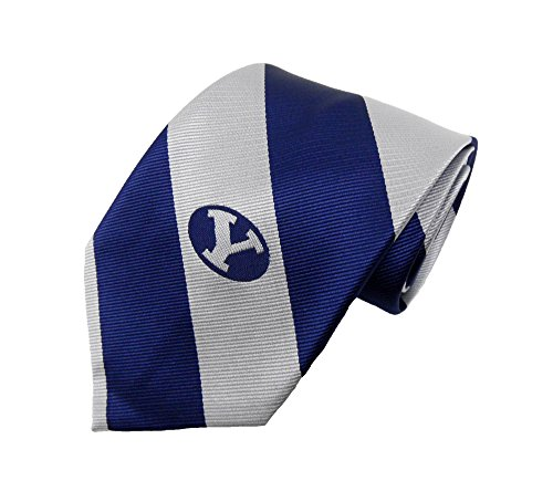 NCAA BYU Cougars Stripe Necktie, Blue, One Size