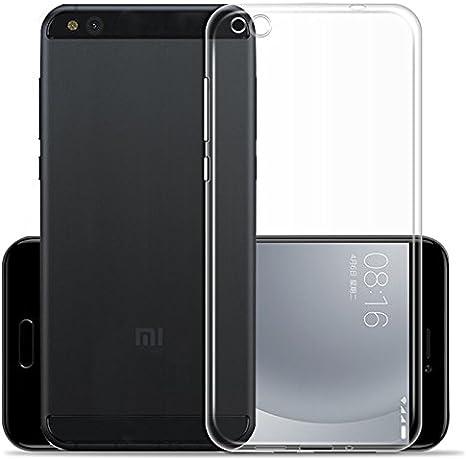 XiaoMi Mi5C Funda - SMTR Estuche de silicona cubierta Slim TPU ...