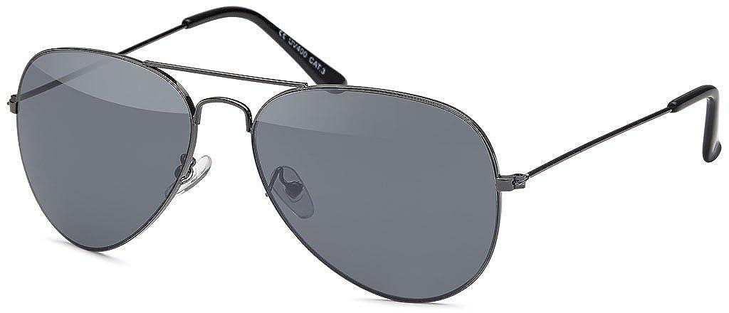MOKIES Unisex Sonnenbrillen - UV400 Filterkategorie 3 CE Kennzeichnung - Pilotenbrille Fliegerbrille - Polycarbonat - Edelstahl