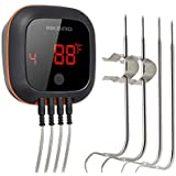 Inkbird Bluetooth Grill BBQ Meat Thermometer with 4 Probes Digital Wireless Grill Thermometer, Timer, Alarm,150 ft Barbecue C
