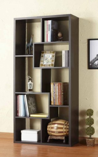 Amazon.com: Furniture of America Oasis Open Back Bookcase, Walnut: Kitchen  u0026 Dining