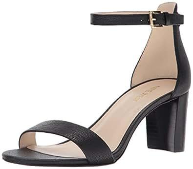 Nine West Heeled Sandal For Women, 38.5 EU, Black