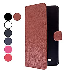 Litchi Grain Pattern PU Leather Case with Card Slot for Samsung Galaxy Mega 6.3 I9200 (Assorted Colors) --- COLOR:White