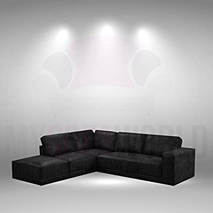 Astounding Lyon Ultimate Black Soft Bonded Leather Corner Sofa Left Beatyapartments Chair Design Images Beatyapartmentscom