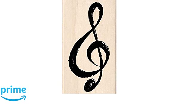 EIGHTH NOTES Wood Mounted Rubber Stamp InkaDinkaDo