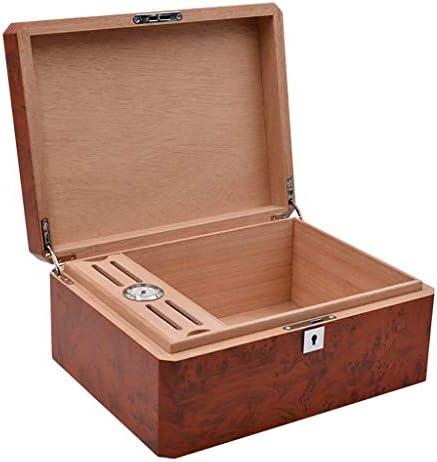 チーク木目葉巻ヒュミドールシガーボックスモイスボックスシガーボックススポット葉巻ヒュミドールポータブルシガーボックス