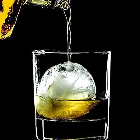 Molde de Cubo de Hielo de Esfera,Máquina de Hielo de 4 Orificios Molde de Whisky, Molde de Hockey sobre Hielo Redondo de Whisky para Cerveza Cócteles Fiesta de Whisky y Bares