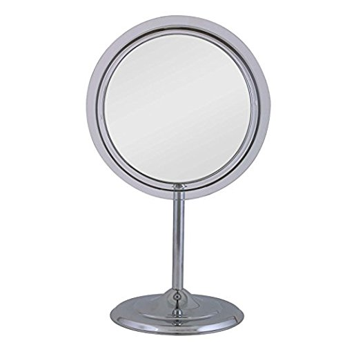 estal Vanity In Chrome with 5X Magnification, Chrome Finish, 9 Inch (Lighted Pedestal Mirror)