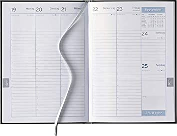 Semana libro 2019 en DIN A5, año Calendario en forma de ...