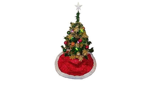 Amazon miniature tabletop green christmas tree kit bundle of
