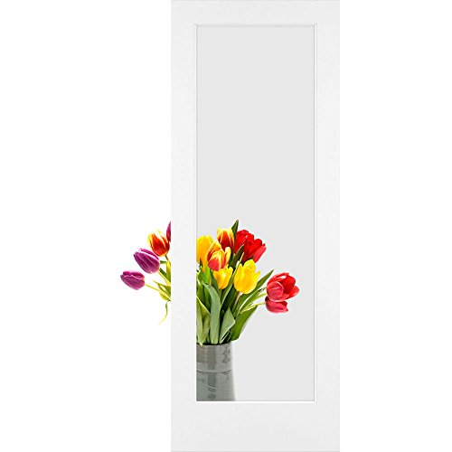 1-Lite Clear Glass French Door, Primed, 28