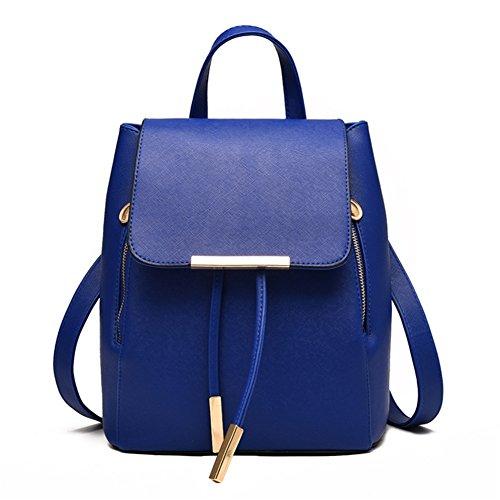 [VVeda Spring and Summer Handbag for Lady Korean Students Travel Backpack Shoulder Bags(Blue)] (Dance Costumes Australia Suppliers)