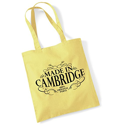 Gifts Cotton For in Bag Tote Made Printed Bags Lemon Cambridge Women Shopper BTxqag1