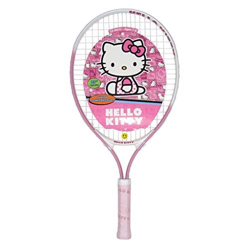 Official Hello Kitty Junior Tennis Racquet with Tennis Bag and Vibration Dampener choice of lengths