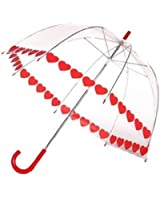 Clear Printed Bubble Umbrella - Heart String by Frankford