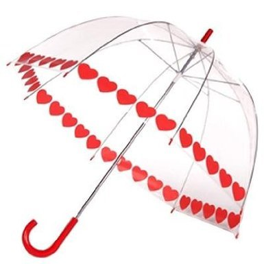 Frankford Umbrella (Clear Printed Bubble Umbrella - Heart String by Frankford)