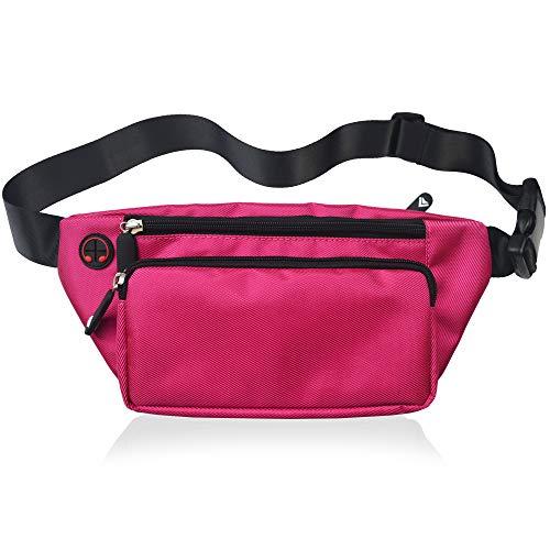 Pink Fanny Pack Men Women Waist Pack Bag Quick Release Buckle Water Resistant