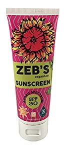 Zeb's Organics Sunscreen, Natural and Organic, SPF 30, 3.4 oz.