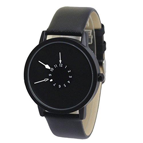 ZooooM シンプル 腕時計 ファッション アクセサリー 内側 針 おもし...