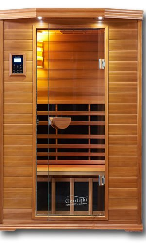 Clearlight Saunas Infrared Sauna - 2 Person Far Infrared Saunas for Home - Heated Detox Therapy - Low EMF - Lifetime Guarantee