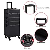 Yaheetech Extra Large Makeup Case Rolling Cosmetic