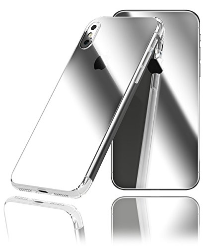 For iPhone X Decorative Carbon Fiber Vinyl BACK & 2 SIDES Protector Anti Scratch Skin Guard - 3D surface - Bubble -Free Easy to Install by IPG (SILVER CHROME)