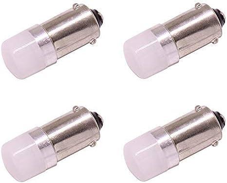 BAX9S H6W Bombillas de luz LED para automóvil,9V-24V Lámpara blanca 6000K, para luces de matrículas de luces interiores Luces de cúpula Luces de señal de giro Luces de señal, 4 paquetes