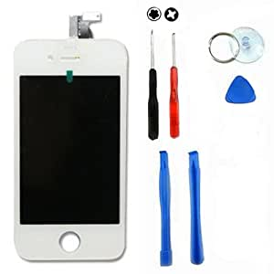 White Apple Iphone 4 4g LCD + Touch Digitizer Screen Assembly AT&T GSM and Free Tools