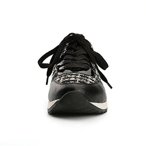 Women's Contrast Alexis Fabric Leroy Black Top Low Walk Sneakers Lightweight Trainer 6xgnTw14g