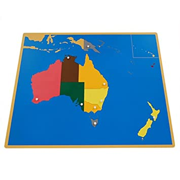 Amazon montessori australia puzzle map with labeled and montessori australia puzzle map with labeled and unlabeled control maps gumiabroncs Choice Image