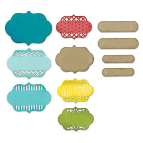 Sizzix Thinlits Dies, Ornate Labels, 12/Pack