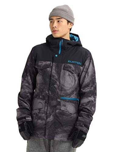 Stitch Insulated Jacket - Burton Men's Men's Covert Jacket, Low Pressure/True Black, Large