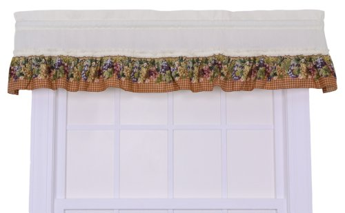 A.L. Ellis Kitchen Collection Tuscan Hills Grapes Ruffled...