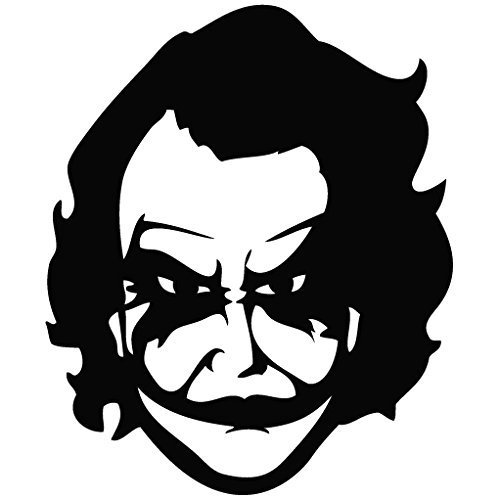 Indiashopers batman joker face windows sides hood bumper car sticker black amazon in car motorbike