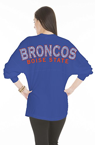NCAA Boise State Broncos Women's Jade Long Sleeve Jersey, Large, Royal