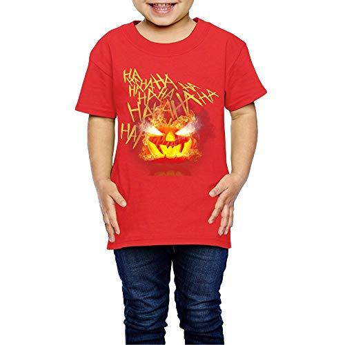 Washed Cotton Baby Boy Girls Shirt Hahaha Joker Jack O' Lantern Pumpkin Halloween Cute Toddler Kids Summer T Shirt Funny