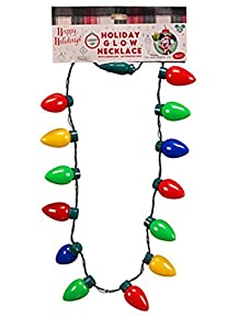 Amazon.com: Disney Parks Holiday Christmas Lights Glow Necklace ...