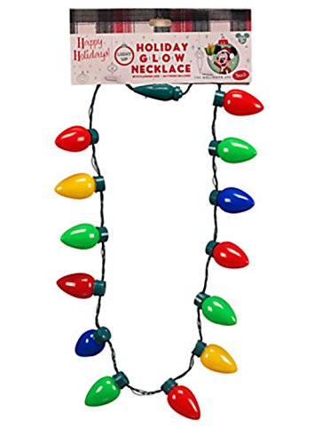 Disney Parks Holiday Christmas Lights Glow Necklace -